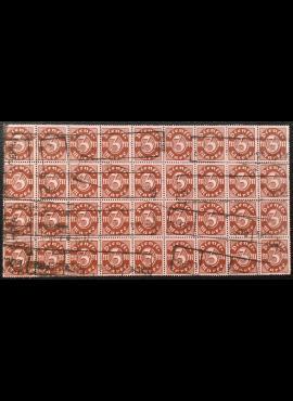 Vokietijos Reichas, tarnybiniai, blokas iš MiNr 67 (36 vnt.) Used (O)