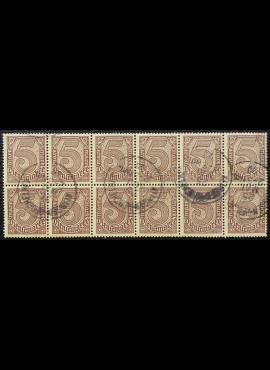 Vokietijos Reichas, tarnybiniai, blokas iš MiNr 33 (12 vnt.) Used (O)