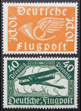 Vokietijos Reichas, pilna serija MiNr 111-112 MLH*