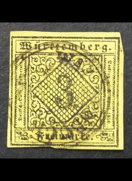 Senoji Vokietija, Viurtembergas, MiNr 2 Used (O)