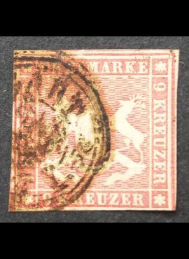 Senoji Vokietija, Viurtembergas, MiNr 7 Used (O)