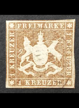 Senoji Vokietija, Viurtembergas, MiNr 6 Used (O)