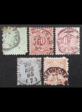 Senoji Vokietija, Viurtembergas, MiNr 44, 46-48 Used (O)