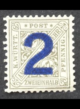 Senoji Vokietija, Viurtembergas, tarnybinis, MiNr 257 MH*