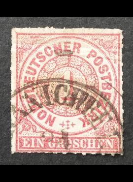 Senoji Vokietija, Šiaurės Vokietijos sąjunga MiNr 4 Used (O)