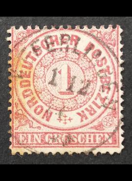 Senoji Vokietija, Šiaurės Vokietijos sąjunga MiNr 16 Used (O)