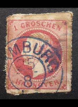 Senoji Vokietija, Hanoveris, MiNr 23 Used (O)