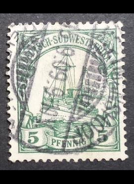 Vokietijos Reichas, Užsienio ir kolonijų paštas, Vokietijos Pietvakarių Afrika, MiNr 25 Used (O)