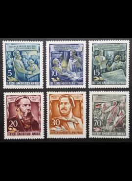Vokietijos Demokratinė Respublika (VDR), pilna serija MiNr 485-490 (A) MNH**