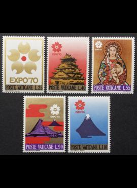 Vatikanas, pilna serija, MiNr 556-560 MNH**