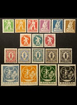 Senoji Vokietija, Bavarija, pilna serija MiNr 178-195 MNH**