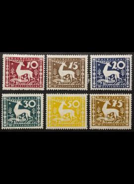 Senoji Vokietija, Viurtembergas, tarnybiniai, pilna serija MiNr 144-149 MH*