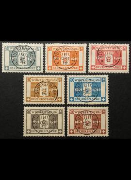 Senoji Vokietija, Viurtembergas, tarnybiniai, pilna serija MiNr 123-129 Used (O)