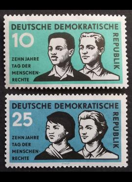 Vokietijos Demokratinė Respublika (VDR), pilna serija MiNr 669-670 MNH**
