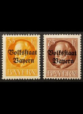 Senoji Vokietija, Bavarija, pilna serija MiNr 134-135 (A) MNH**