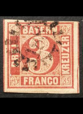 Senoji Vokietija, Bavarija, MiNr 9 Used (O)