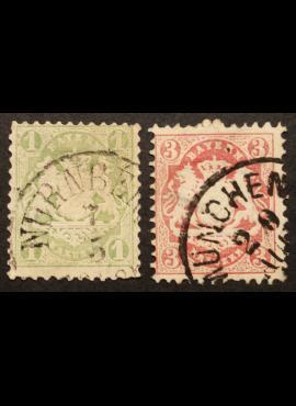 Senoji Vokietija, Bavarija MiNr 22-23 Used (O)