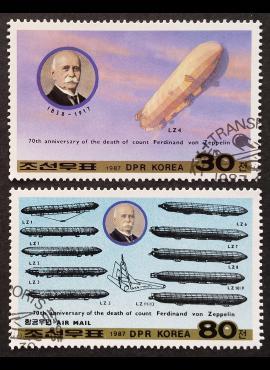 Šiaurės Korėja, pilna serija MiNr 2847-2848 Used (O)
