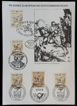 Pirmos dienos kortelė su penkiais skirtingų valstybių ženklais Used (O)