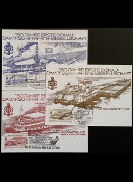 Austrija, trys pirmos dienos kortelės su MiNr 1601-1603 (pilna serija) Used (O)