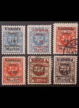 Klaipėda (Memel), pilna serija MiNr 129-134 Used (O)