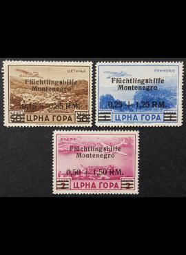 Vokietijos Reichas, Juodkalnijos okupacija, MiNr 15-17 MLH*/MNG (*)