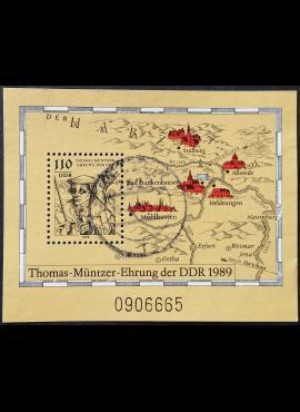 Vokietijos Demokratinė Respublika (VDR), blokas Nr. 97 MiNr 3237 Used (O)