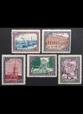 Latvija, pilna serija, MiNr 107-111 (A) MH*