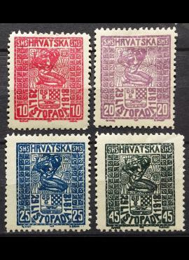 Jugoslavija, pilna serija, MiNr 51-54 MH*