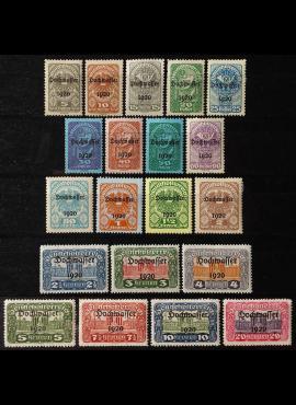 Austrija, pilna serija, MiNr 340-359 MLH*/MH*