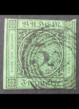 Senoji Vokietija, Badenas, MiNr 6 Used (O)