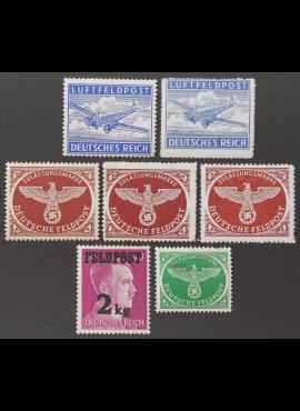 Vokietijos Reichas, oro pašto rinkinys, MiNr 1-4 MLH*/MH*