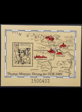 Vokietijos Demokratinė Respublika (VDR), blokas Nr. 97 MiNr 3237 MNH**