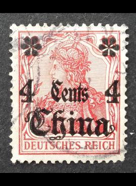 Vokietijos Reichas, Užsienio ir kolonijų paštas, Kinija MiNr 40 Used (O)