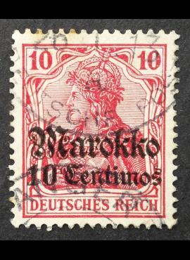 Vokietijos Reichas, Užsienio ir kolonijų paštas, Marokas MiNr 48 Used (O)