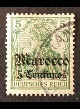 Vokietijos Reichas, Užsienio ir kolonijų paštas, Marokas MiNr 22 Used (O)