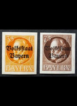 Senoji Vokietija, Bavarija, pilna serija MiNr 134-135 (B) MH*