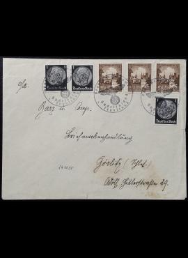 Vokietijos Reichas, Čekoslovakijos okupacija, Sudetų kraštas, vokas su MiNr 512 ir 665