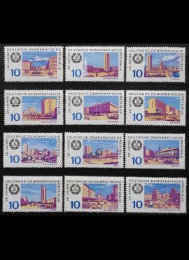 Vokietijos Demokratinė Respublika (VDR), pilna serija MiNr 1495-1506 MNH**