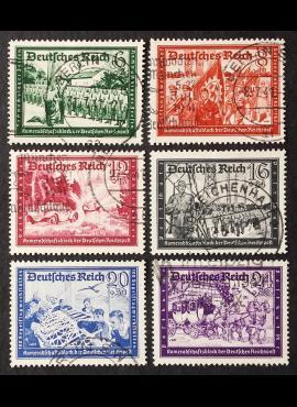 Vokietijos Reichas, pilna serija, MiNr 773-778 Used (O)