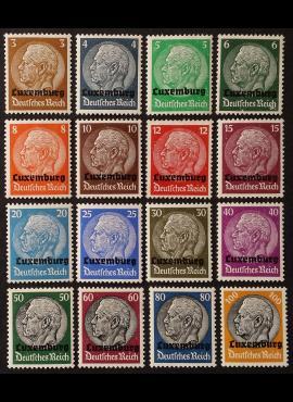 Vokietijos Reichas, Liuksemburgo okupacija, pilna serija MiNr 1-16 MLH*