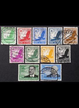 Vokietijos Reichas, pilna serija MiNr 529-539 Used (O)