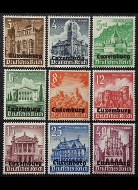 Vokietijos Reichas, Liuksemburgo okupacija, MiNr 33-41 MLH*