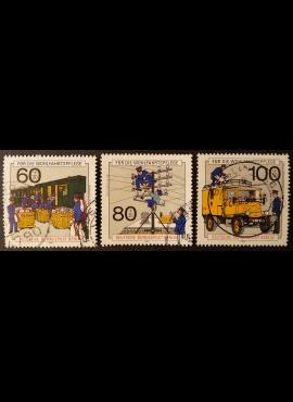 Vokietija, Vakarų Berlynas, pilna serija MiNr 876-878 Used (O)