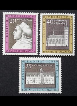 Vokietijos Demokratinė Respublika (VDR), pilna serija MiNr 1317-1319 MNH**