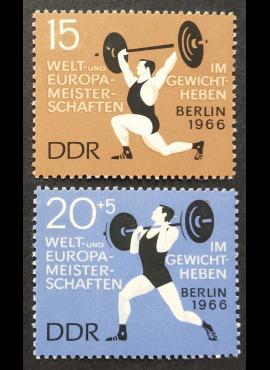 Vokietijos Demokratinė Respublika (VDR), pilna serija MiNr 1210-1211 MNH**