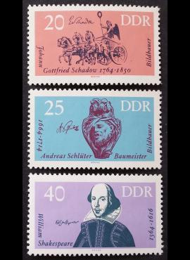 Vokietijos Demokratinė Respublika (VDR), pilna serija MiNr 1009-1011 MNH**