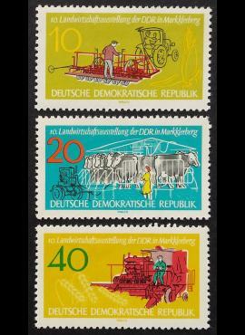 Vokietijos Demokratinė Respublika (VDR), pilna serija MiNr 895-897 MNH**