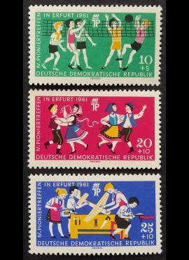 Vokietijos Demokratinė Respublika (VDR), pilna serija MiNr 827-829 MNH**