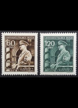 Vokietijos Reichas, Čekijos okupacija, pilna serija, MiNr 136-137 MNH**